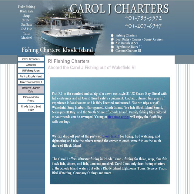 Carol J Charters  Fishing out of Rhode Island