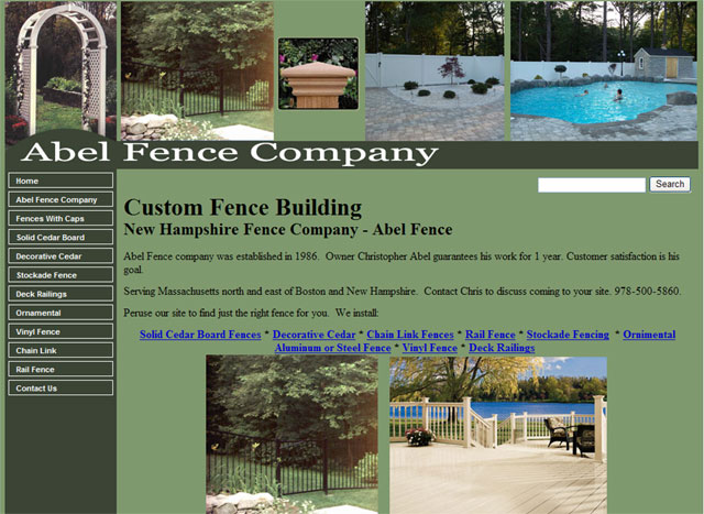 New Hampshire and Massachusetts Fence Company
