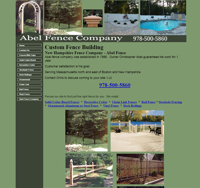 Abel Fence Company Serving New Hampshire and Massachusetts