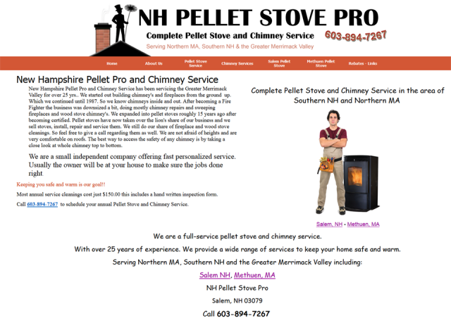 NH Pellet Stove Pro and Chimney Sweep