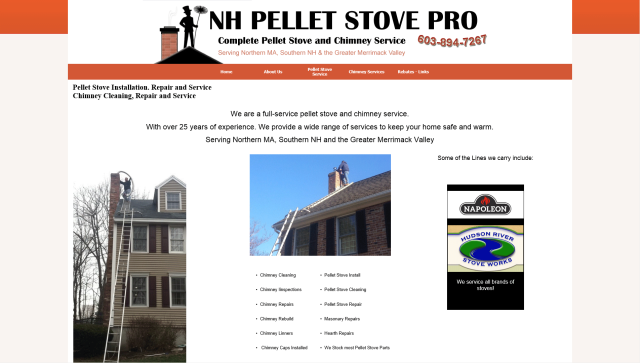 Chimney Sweep and Pellet Stove Cleaning and Repair
