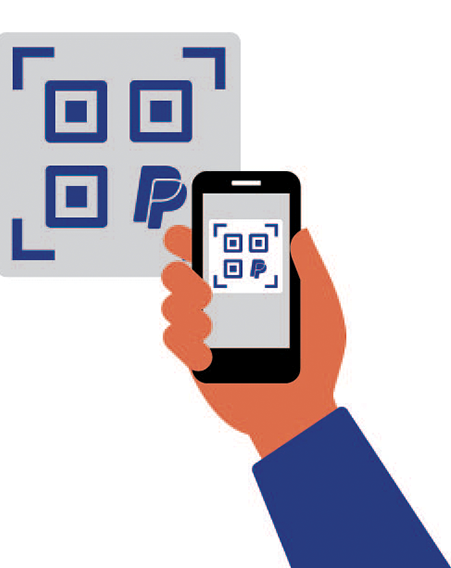 Scan QR Code above using you PalPal App