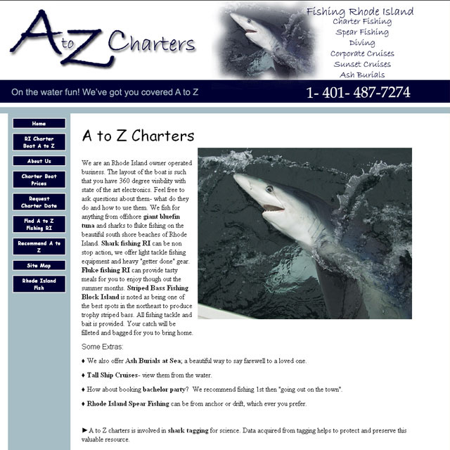 A to Z Charters Fishing Rhode Island