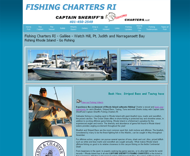 Charter Fishing Rhode Island, Galilee, Narragansett Bay, Block Island