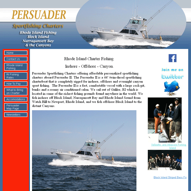 Persuader Sportfishing Charters Rhode Island - Block Island and Narragansett Bay